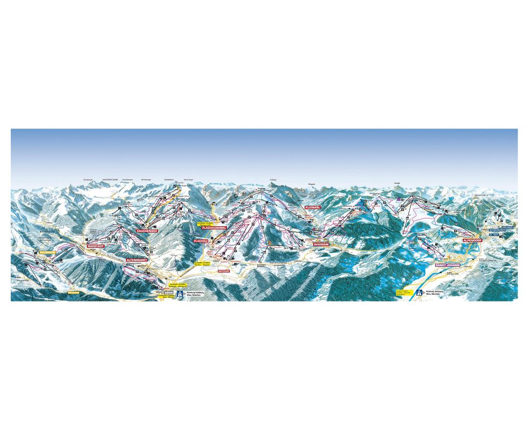 Maps of Salzburg Sportwelt Ski Resort   Collection of maps of ...