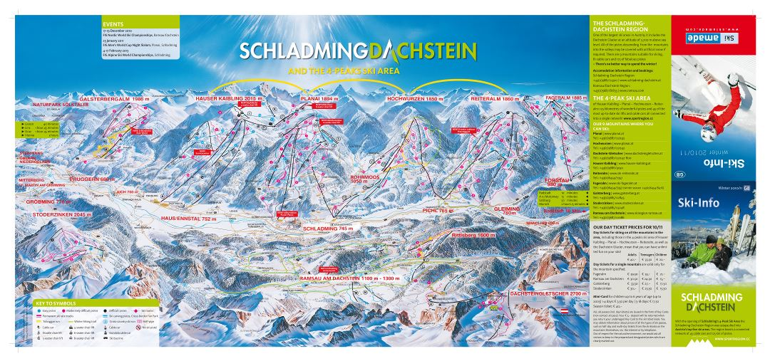 Large scale piste map of Schladming - Dachstein Ski Resort - 2010