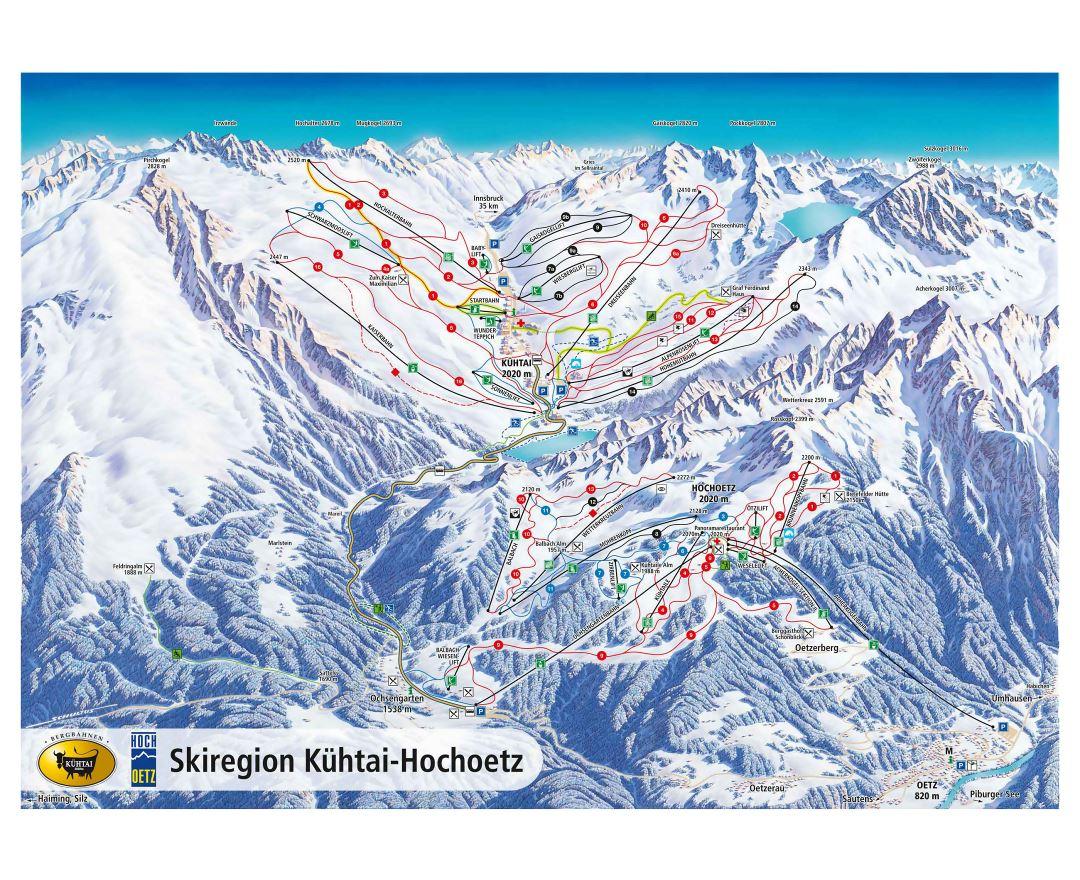 Ski maps of Austria | Collection of maps of Austrian Ski Resorts ...