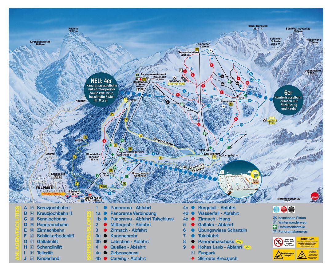 Maps of Innsbruck Ski Resort | Collection of maps of Innsbruck ...