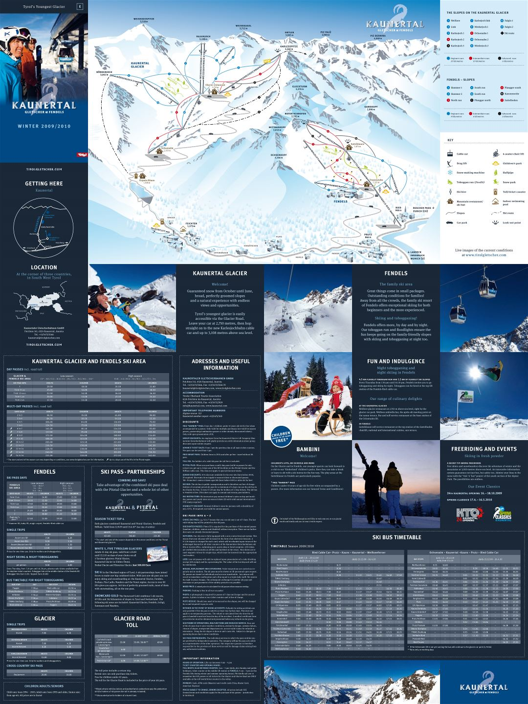 Large scale Gletscher - Fendels, Kaunertal Ski Resort guide - 2009