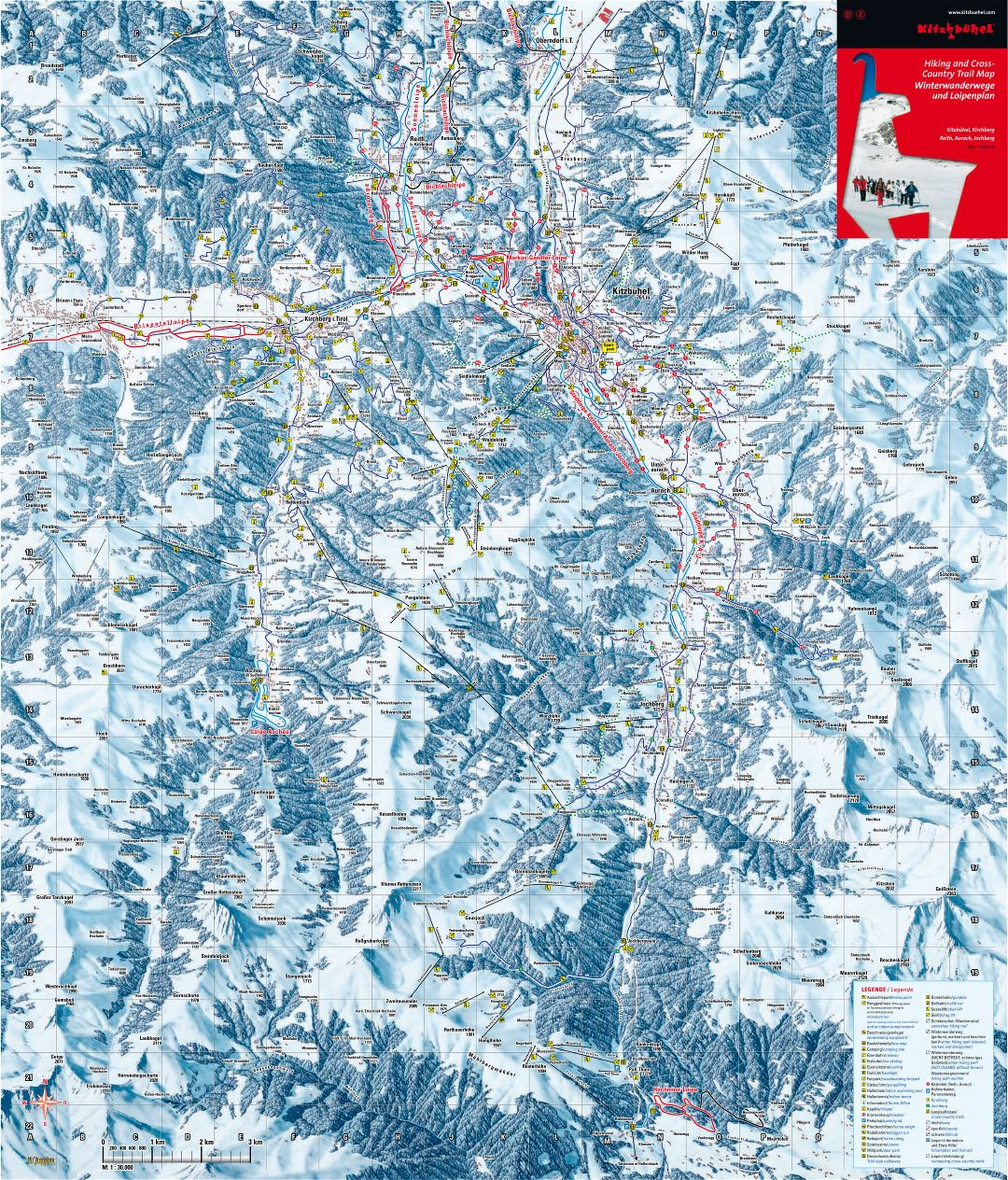 Large scale piste map of Kitzbuhel Ski Area - 2010