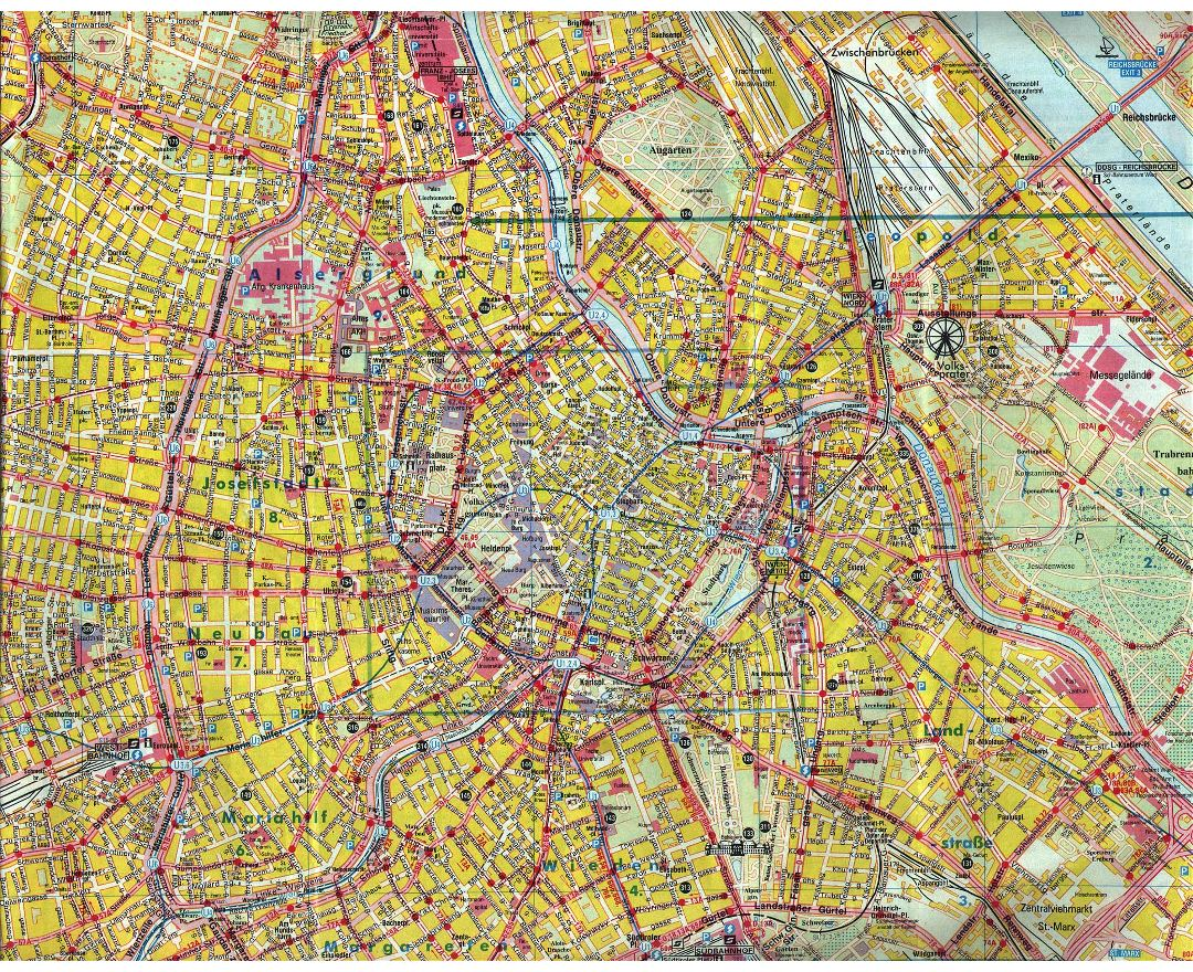 Maps of Vienna Detailed map of Vienna in English Tourist map