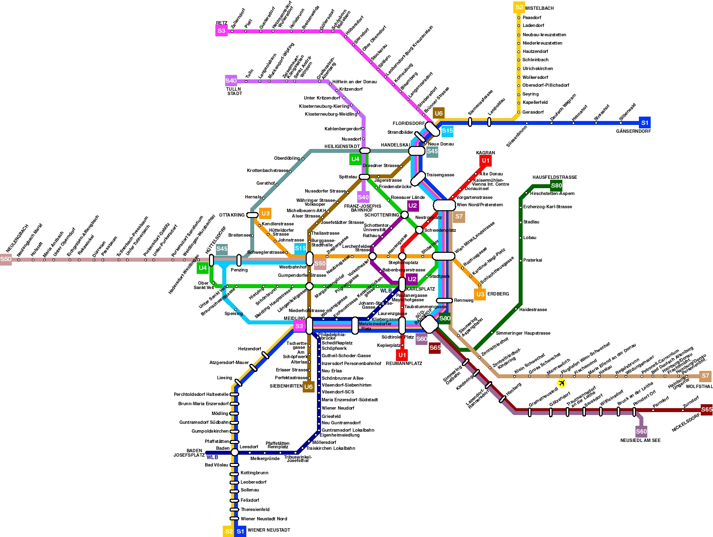 Public transportation map of vienna city vienna austria europe public transportation map of vienna city gumiabroncs Choice Image