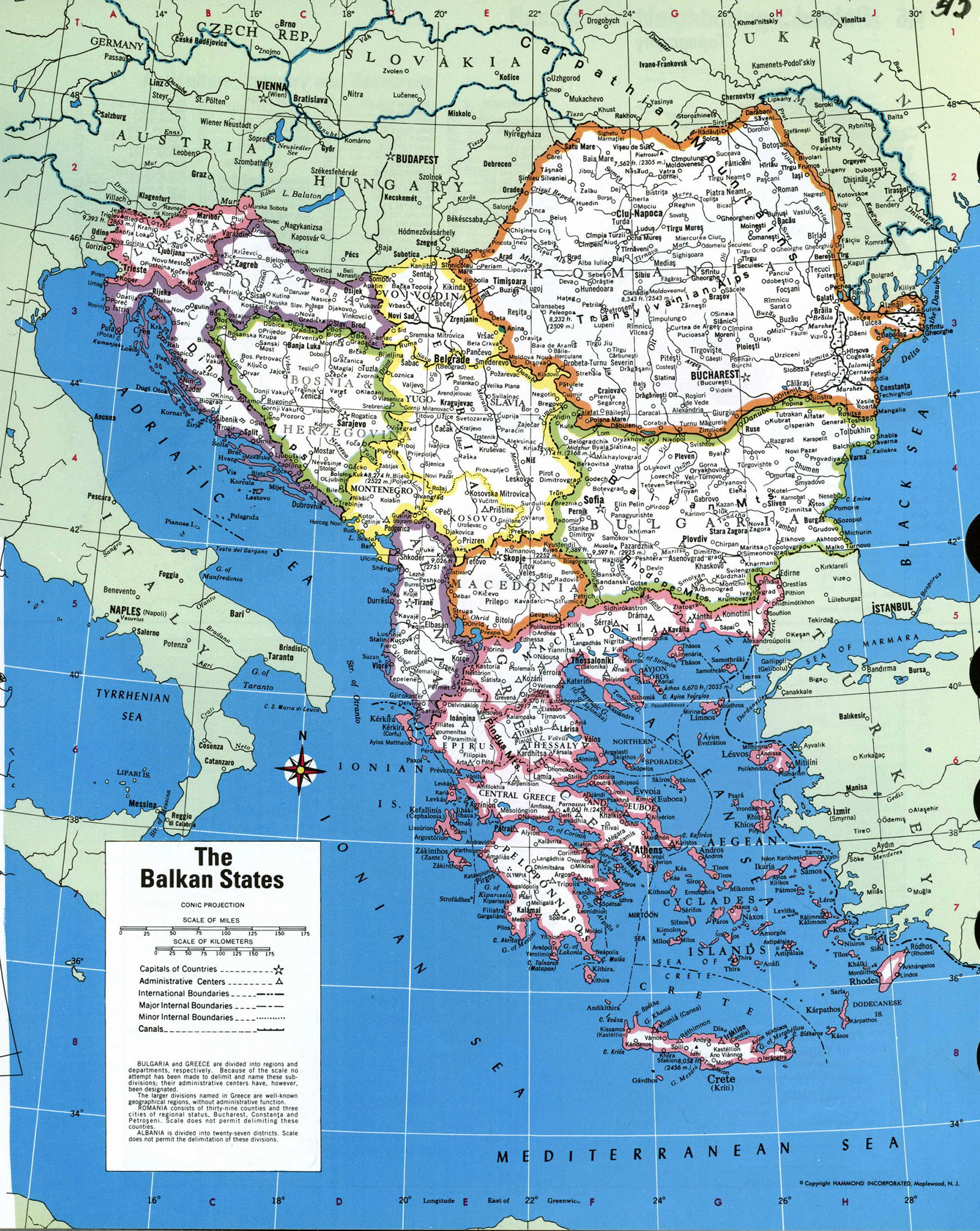 Map Of Balkan States Large detailed political map of the Balkan States | Balkans