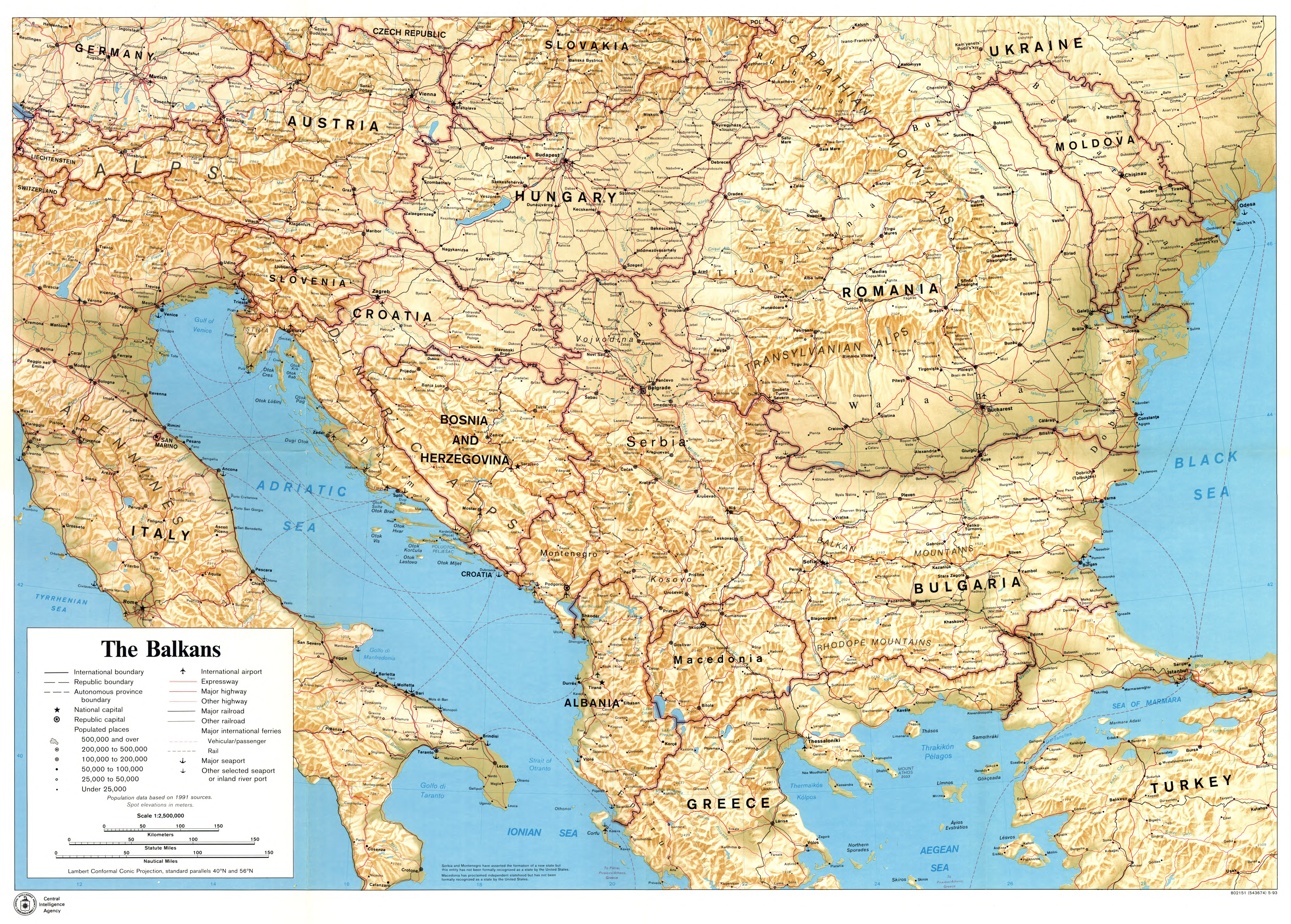 Large scale political map of the Balkans with relief, marks of ... on beautiful women of europe, world atlas of europe, black and white world map europe, world map europe 1500, world map japan, world globe map europe, geography of europe, country of europe, shapes of europe, world war 2 allies and axis countries map, world us map, world map europe and america, world map eastern europe, canada of europe, world map with countries, world map western asia, peninsulas of europe, rivers of europe, asia of europe, germany of europe,