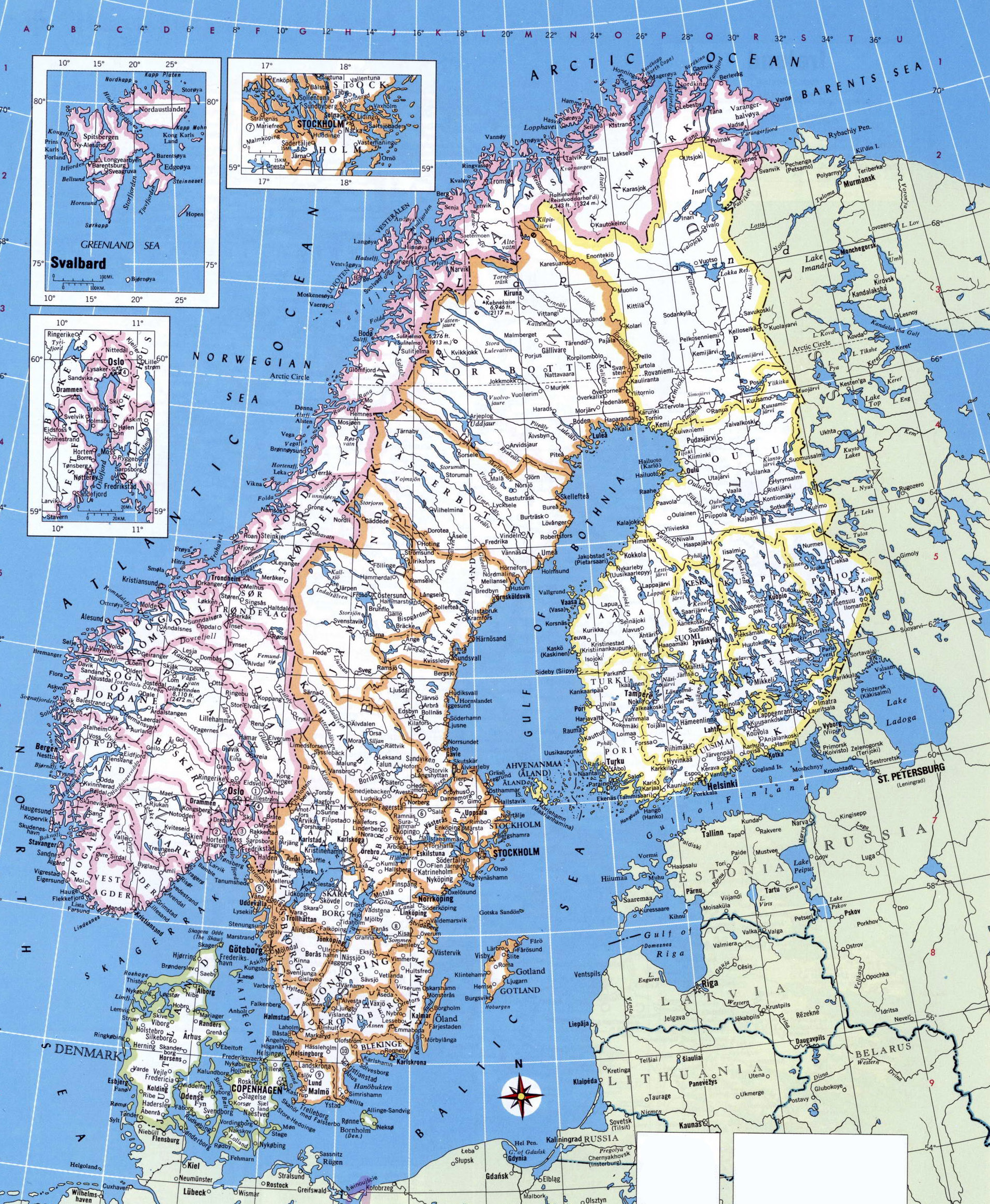 Map Of Sweden And Finland Map Of Ireland And Finland Lapland - Where is norway on a map