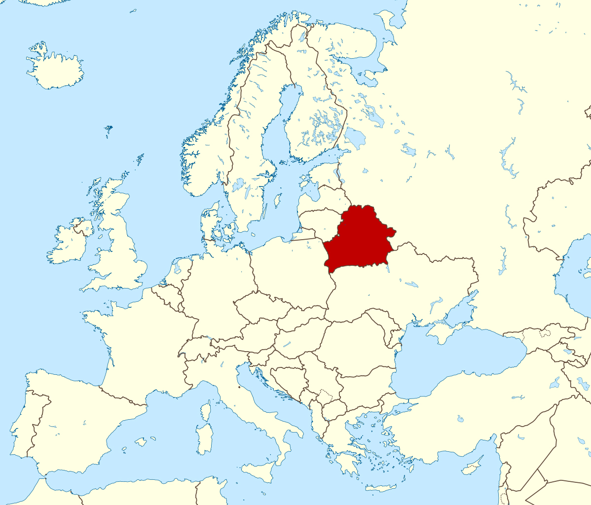 Where is Belarus located? 5
