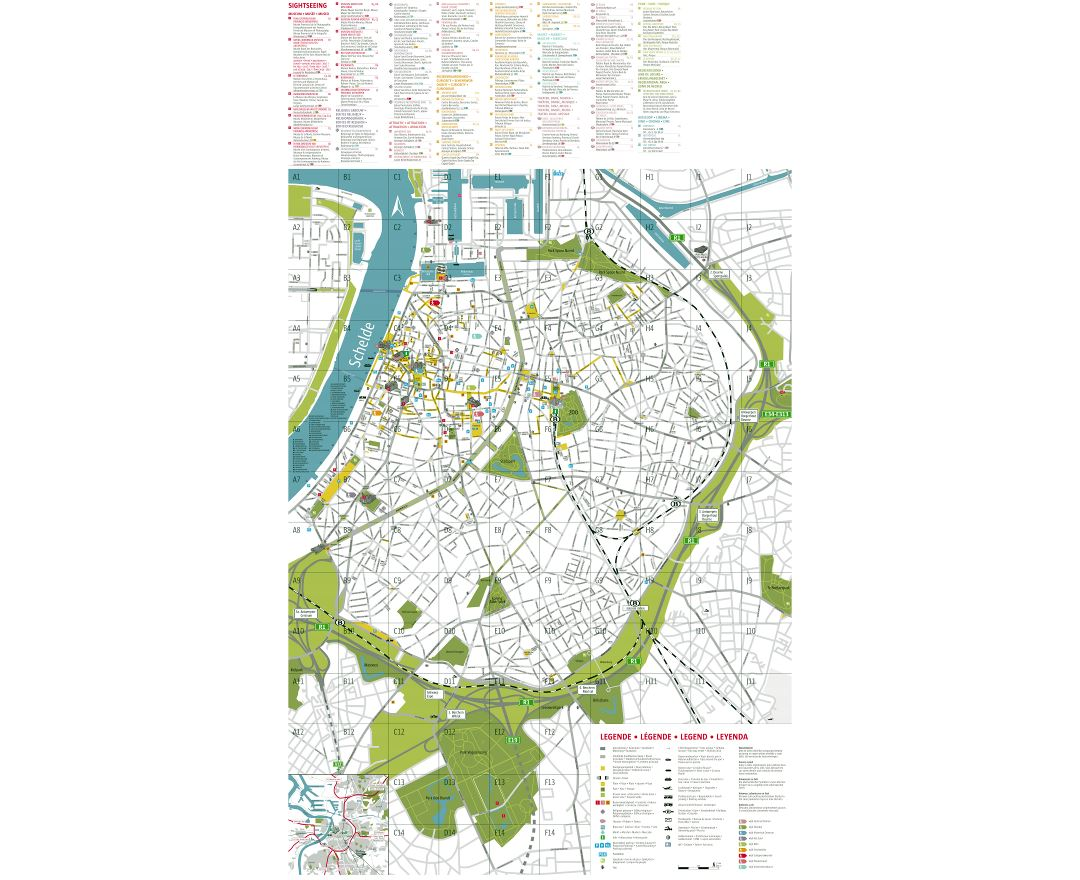 Maps of Antwerp Detailed map of Antwerp in English Tourist map