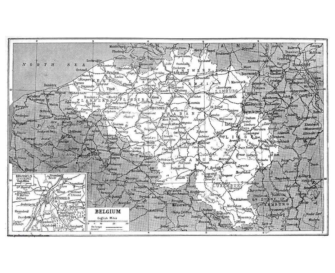 Maps of Belgium Detailed map of Belgium in English Tourist map