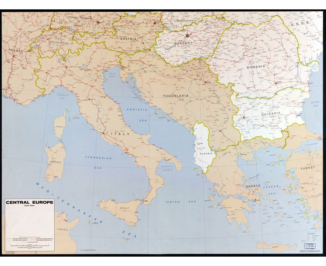 Maps Of Central Europe Central Europe Maps Collection Of - World map with country names high resolution