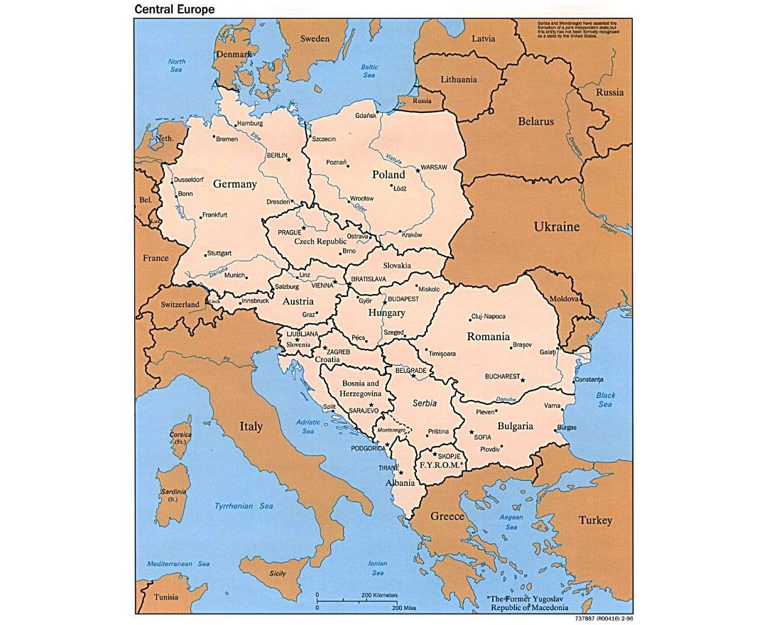 Maps of Central Europe Central Europe maps Collection of detailed maps of