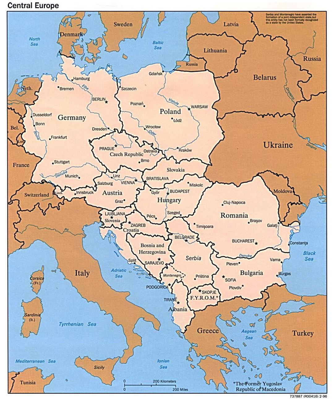 Map Of Central Europe Political map of Central Europe   1996 | Central Europe | Europe  Map Of Central Europe