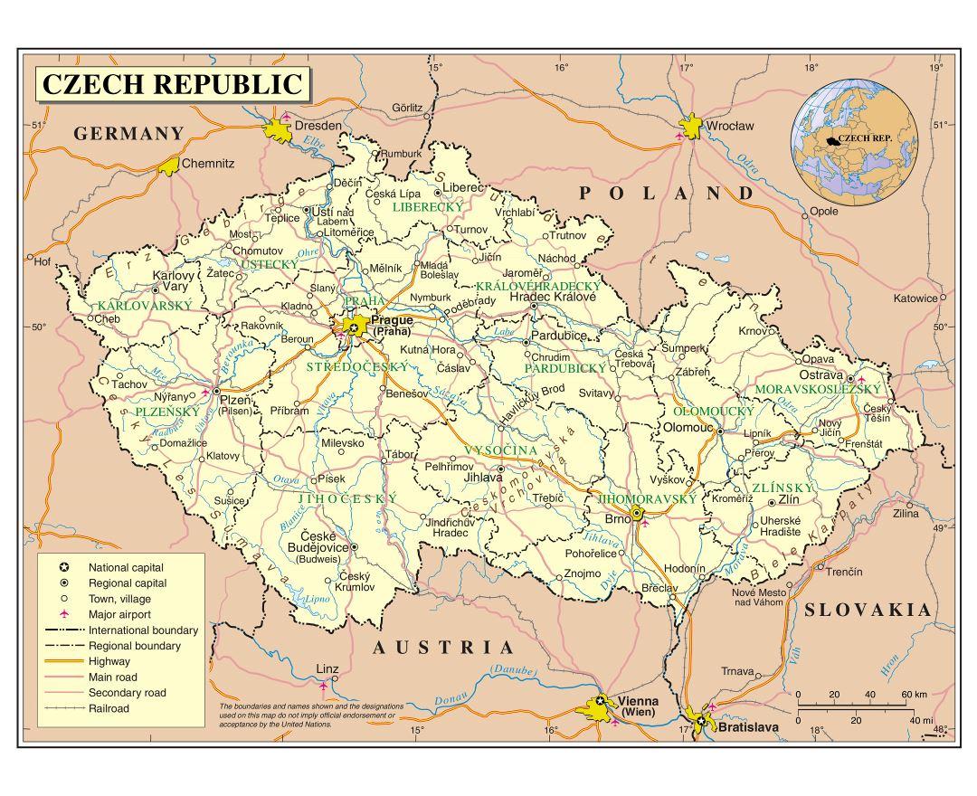 Maps of Czech Republic Detailed map of Czech Republic in English