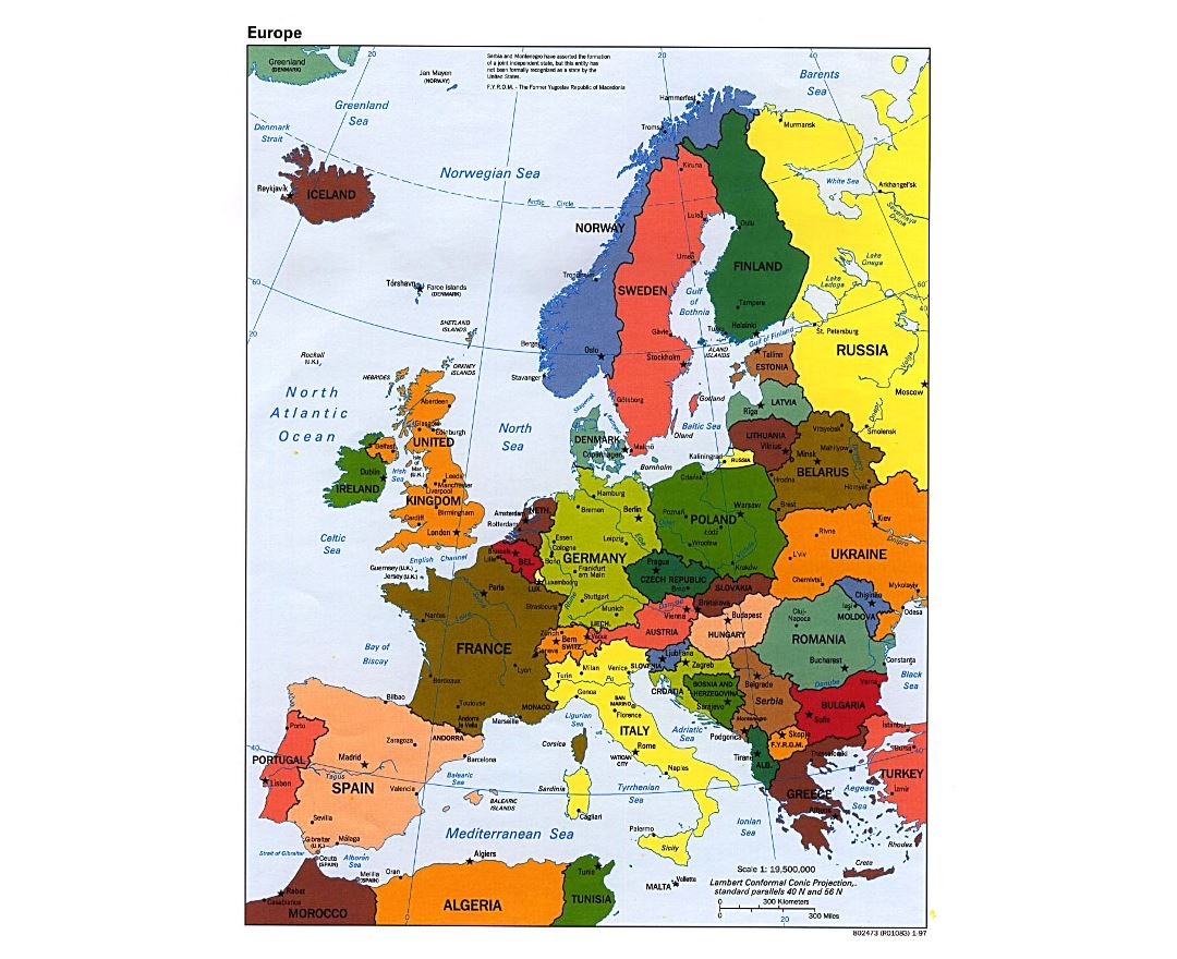 Maps Of Europe And European Countries Political Maps Road And - Map of usa with states and capitals and major cities