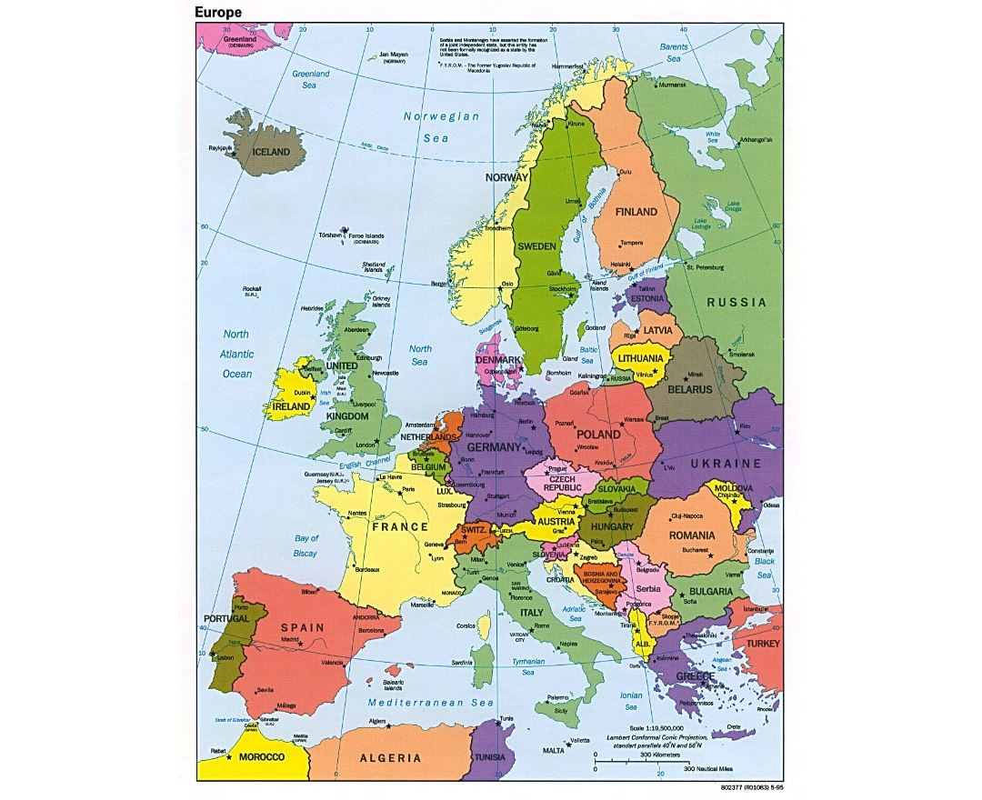 European Map With Major Cities.Maps Of Europe And European Countries Collection Of Maps Of Europe