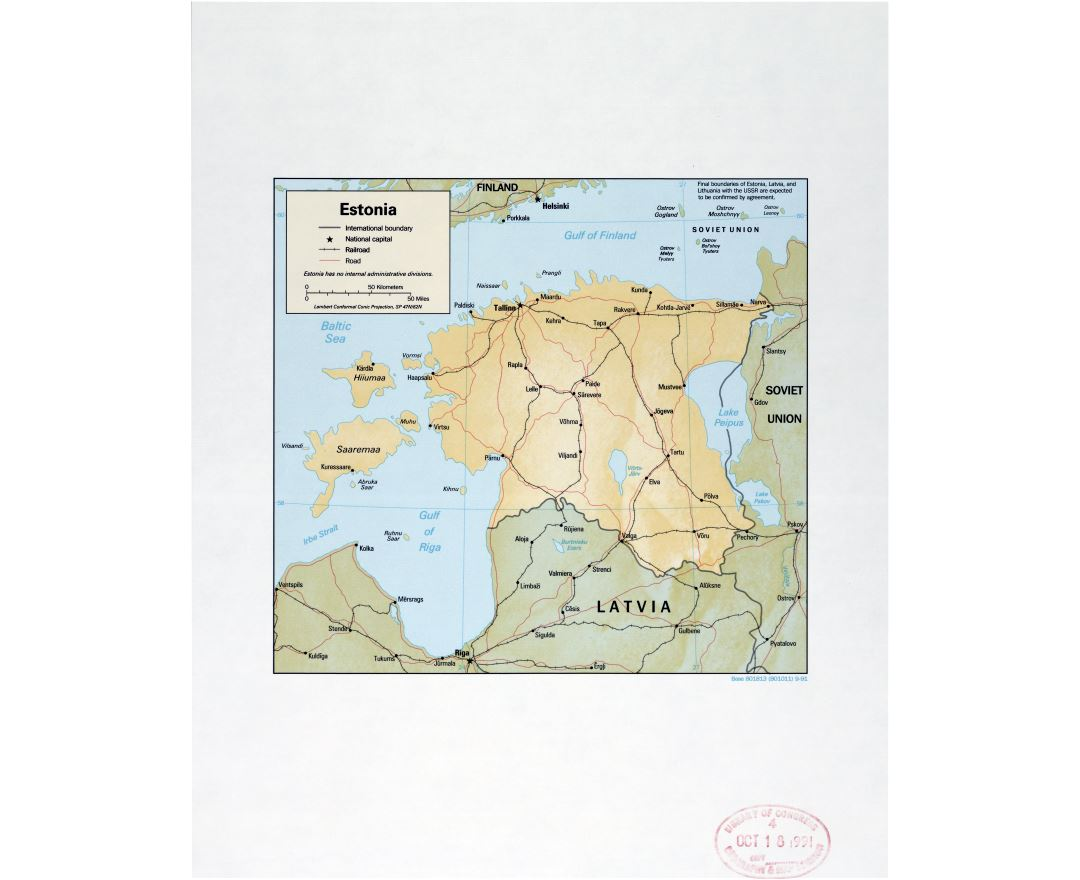 Maps of Estonia Detailed map of Estonia in English Tourist map