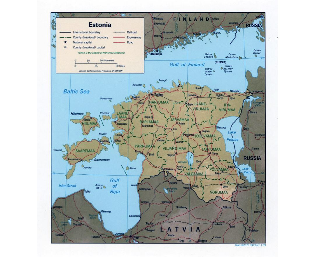 Picture of: Maps Of Estonia Collection Of Maps Of Estonia Europe Mapsland Maps Of The World