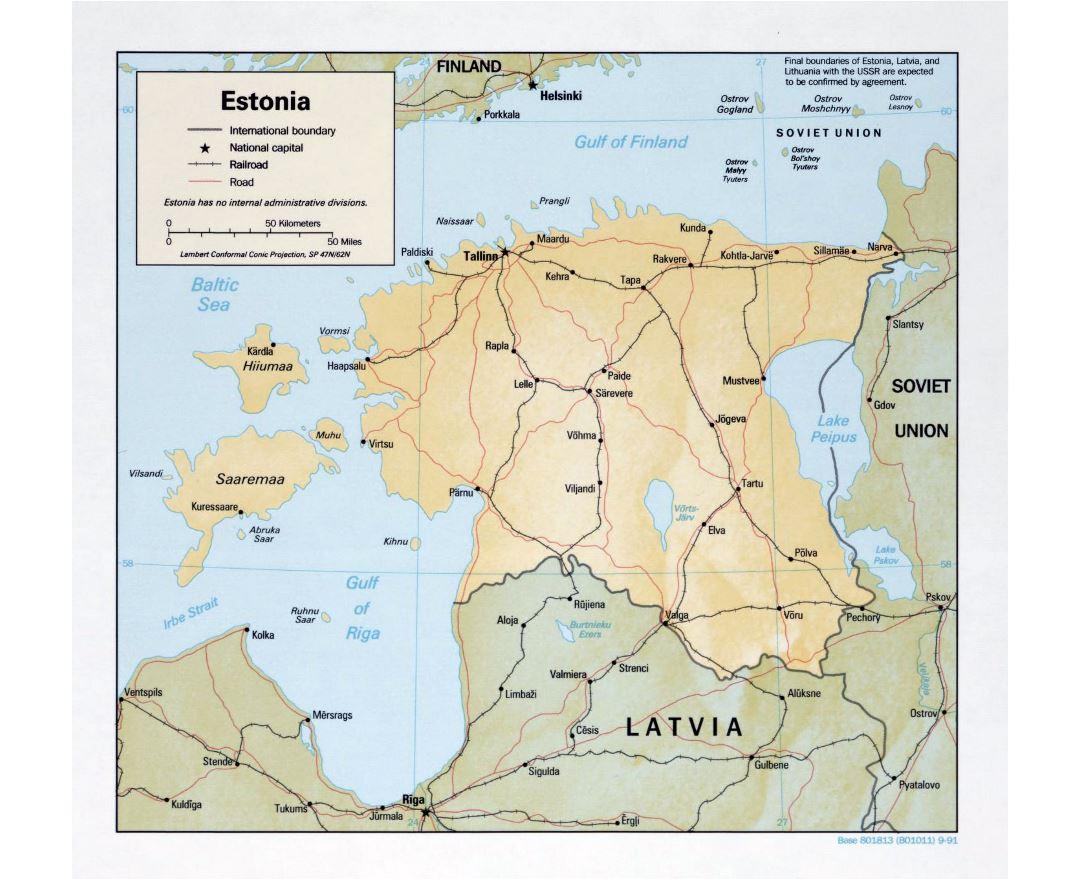 Maps of Estonia Detailed map of Estonia in English Tourist map
