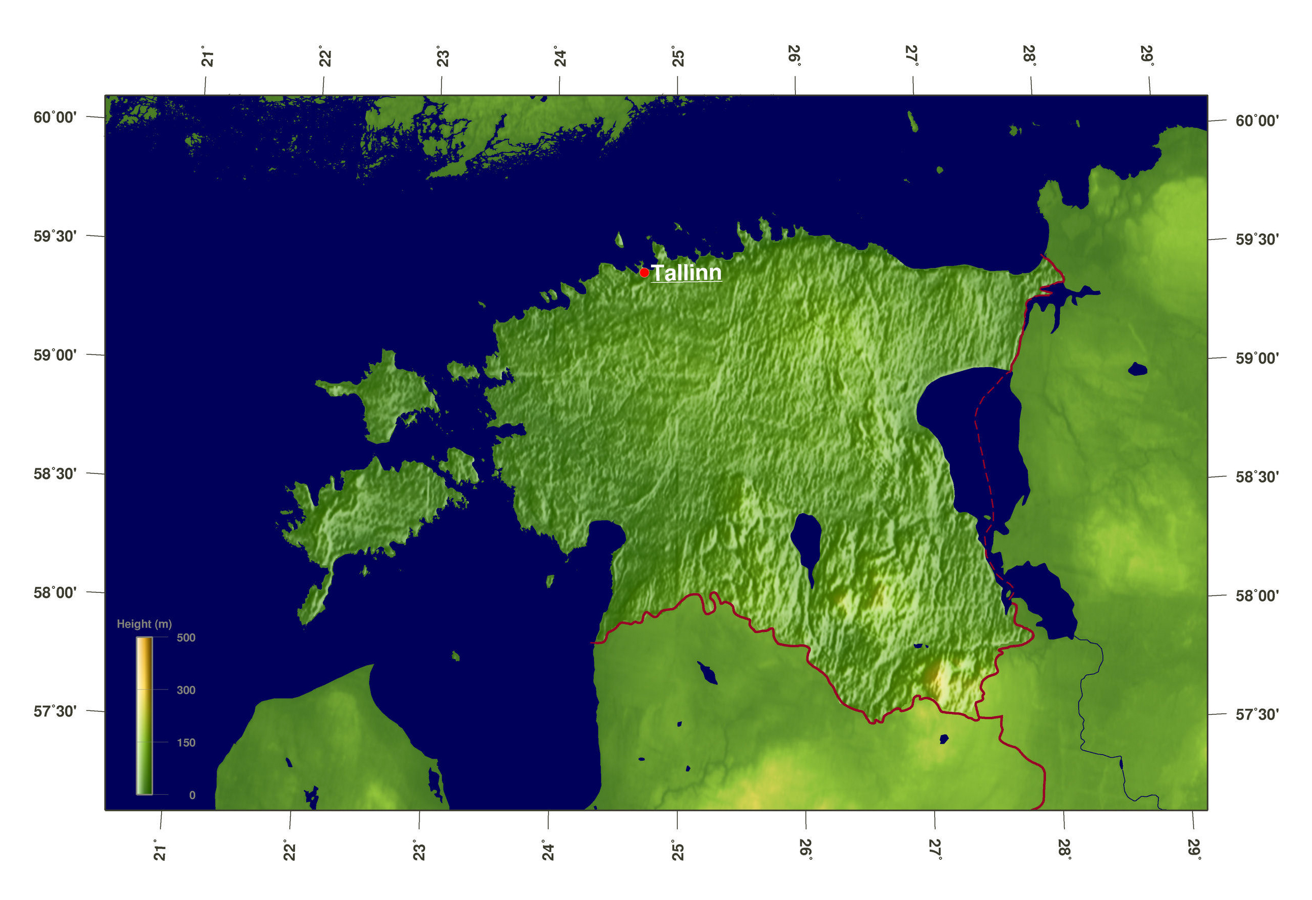 Large scale elevation map of estonia estonia europe mapsland large scale elevation map of estonia gumiabroncs Gallery