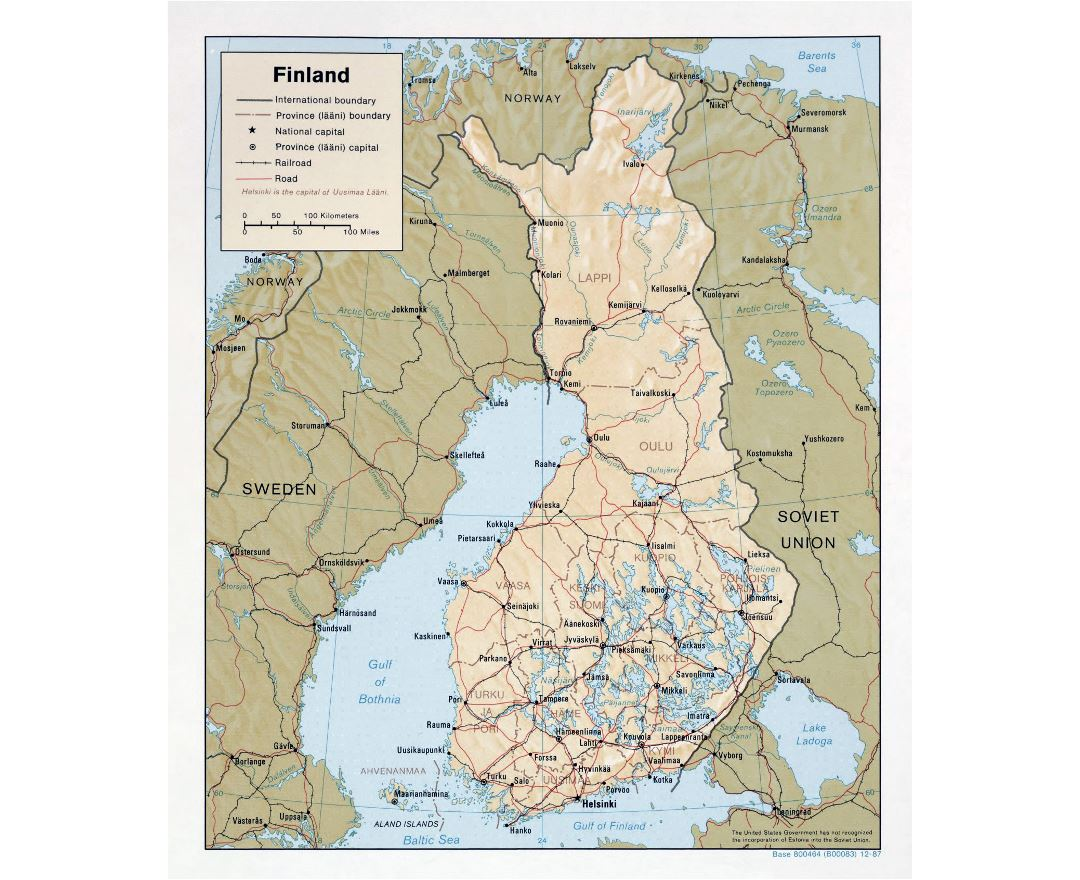 Maps Of Finland Detailed Map Of Finland In English Tourist Map - Aland islands political map