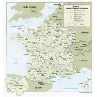 Large physical map of France | France | Europe | Mapsland ...