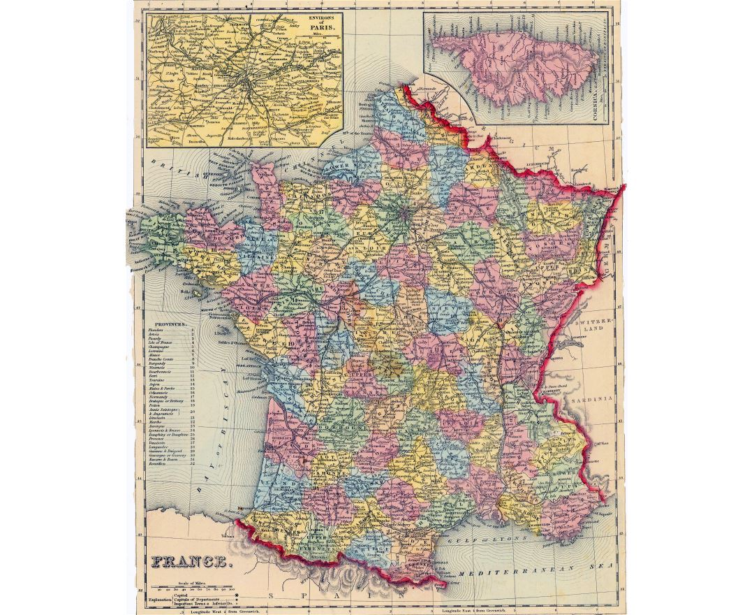 Maps Of France Detailed Map Of France In English Tourist Map - Large map of paris france