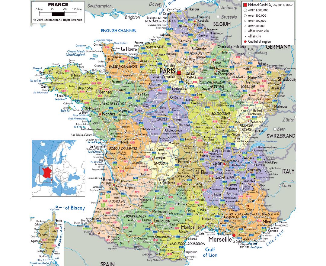 Map Of France Major Cities.Maps Of France Collection Of Maps Of France Europe Mapsland
