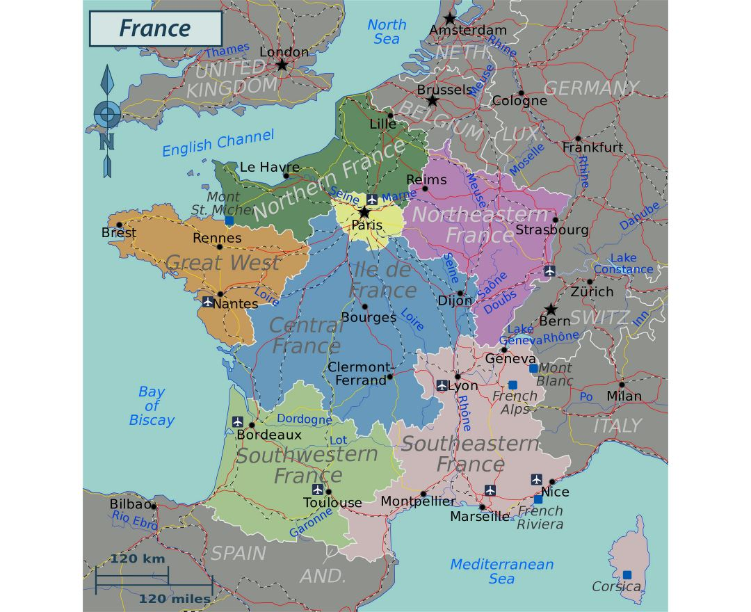 Maps of france detailed map of france in english tourist map large regions map of france gumiabroncs Gallery