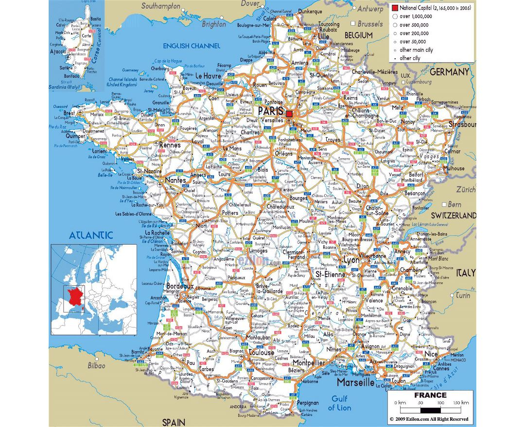 Large Scale Map Of France.Maps Of France Collection Of Maps Of France Europe