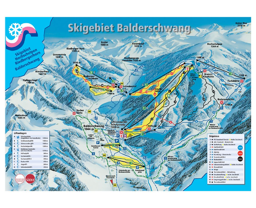 Maps of Allgau Alps | Collection of maps of Allgau Alps (Ski ...