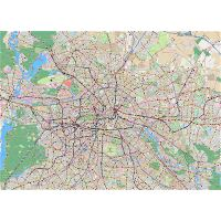Large Berlin districts map | Berlin | Germany | Europe ...