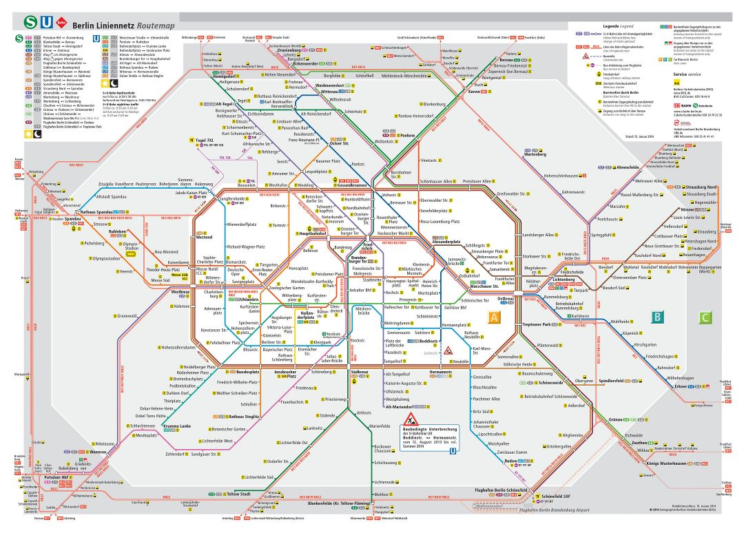 Large detailed Berlin S-Bahn map