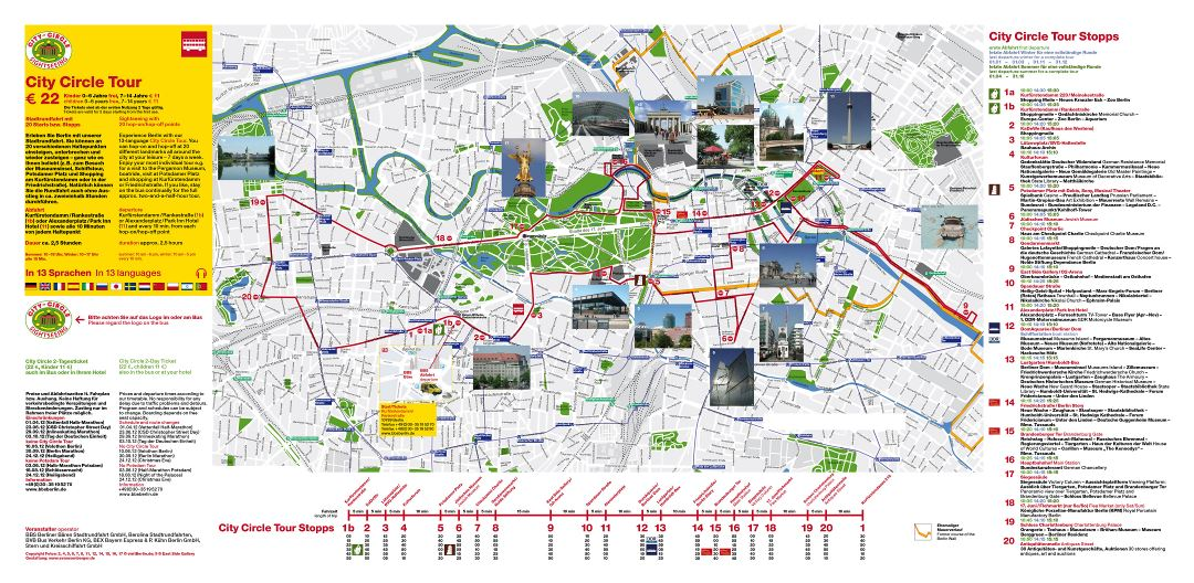 Large detailed Berlin top tourist attractions map