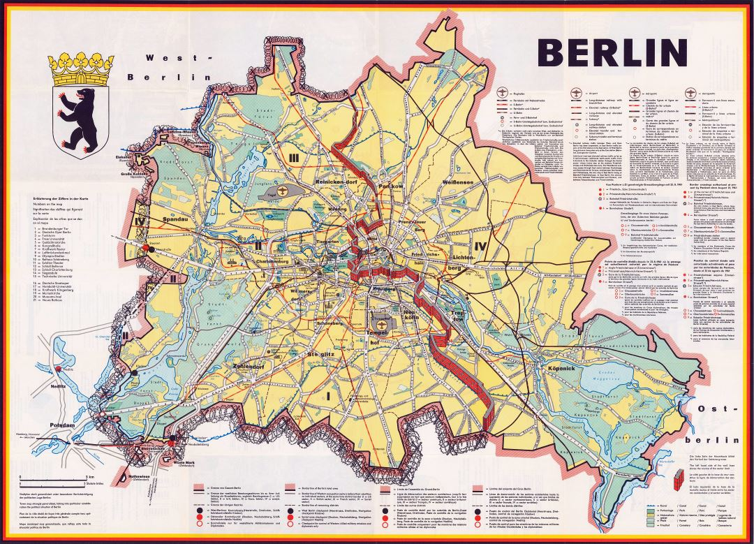 Large detailed map of Berlin