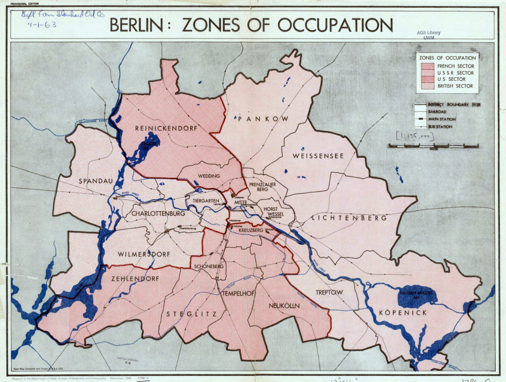 Map Of Germany Occupation Zones.Large Detailed Map Of Zones Of Occupation Of Berlin Berlin