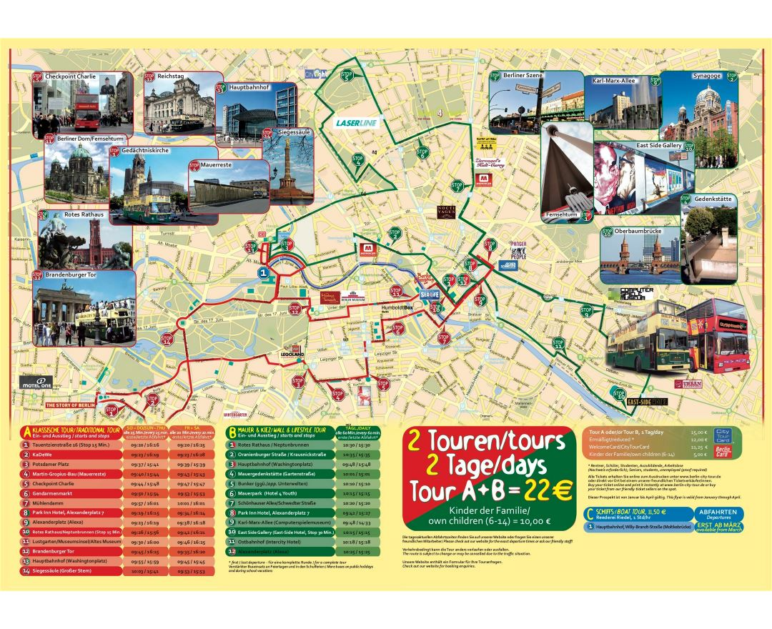 large detailed tourist map of berlin hop on hop off