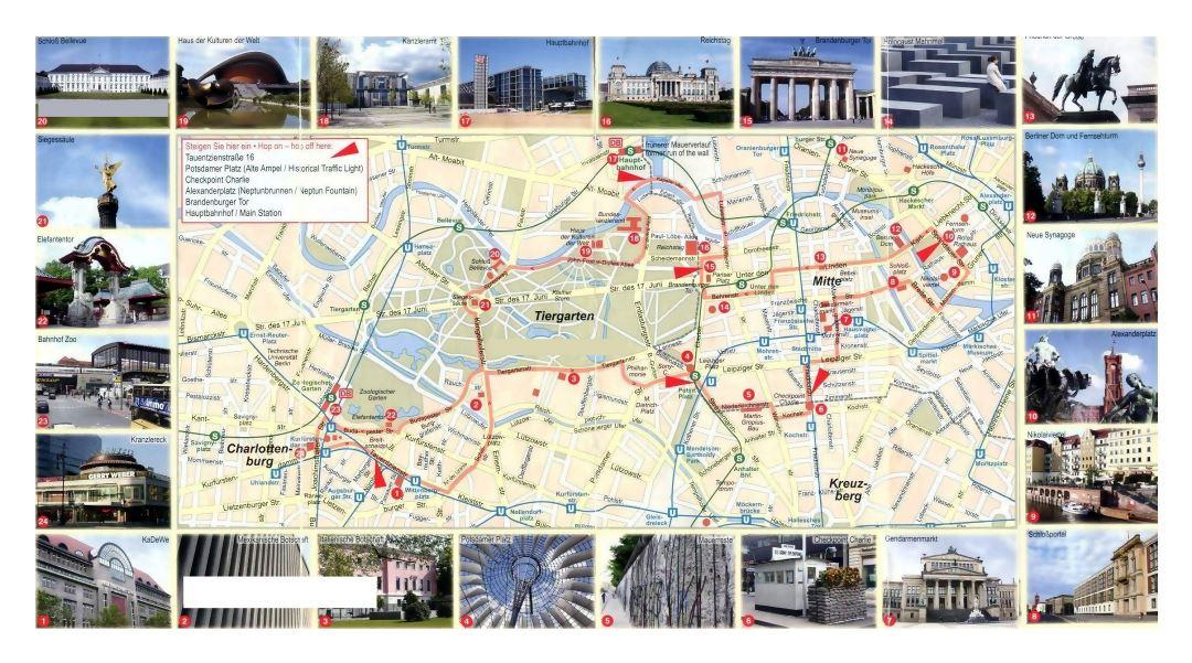 Berlin Tourist Attractions Map - World Maps
