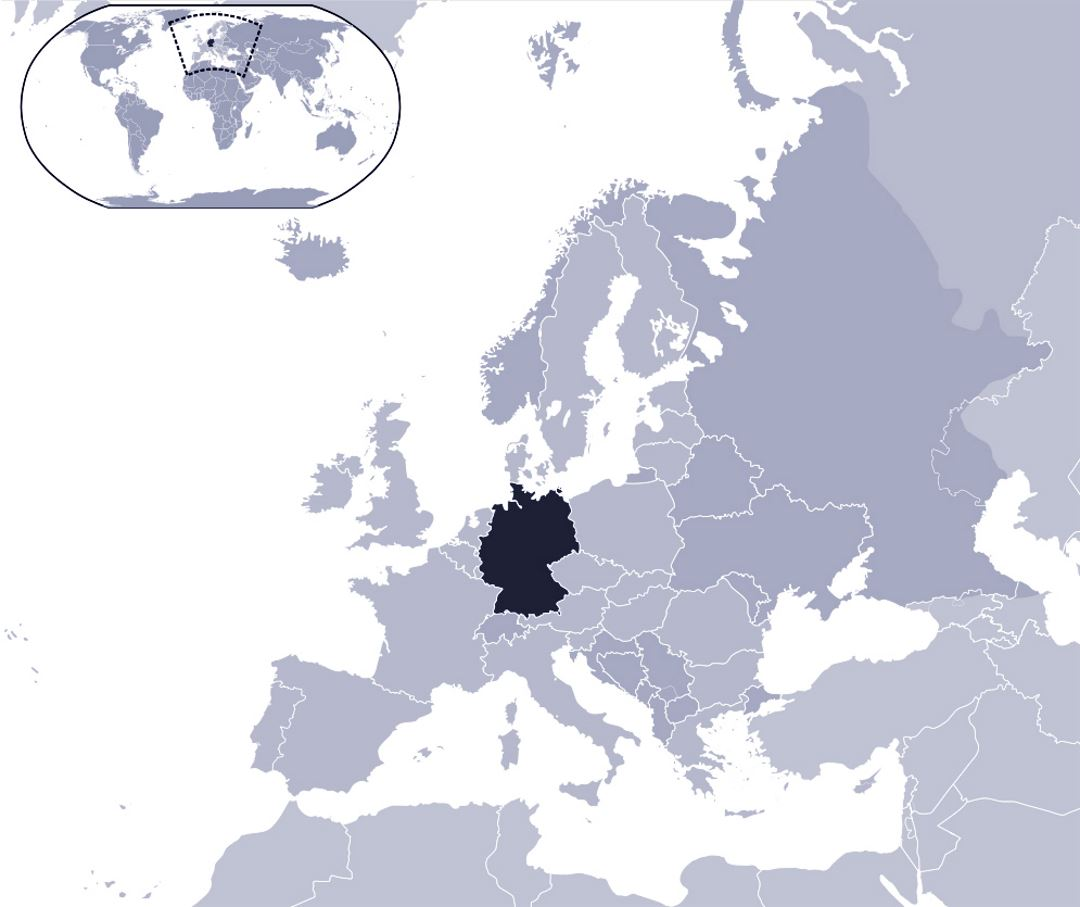 Detailed location map of Germany