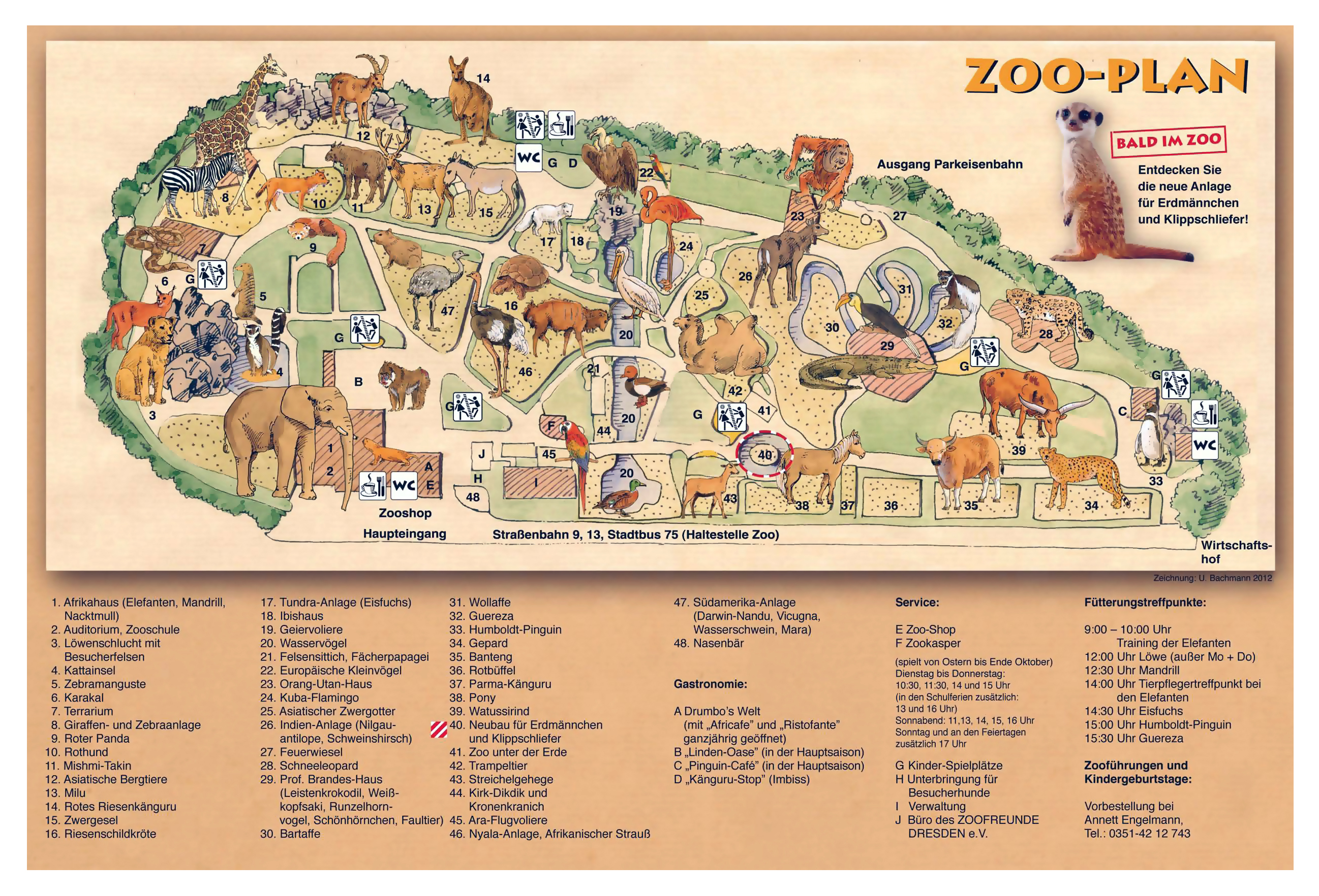 Large detailed map of Dresden Zoo | Dresden | Germany | Europe ... on