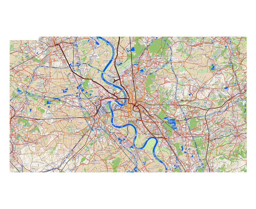Map Of Germany Showing Dusseldorf.Maps Of Dusseldorf Collection Of Maps Of Dusseldorf City Germany