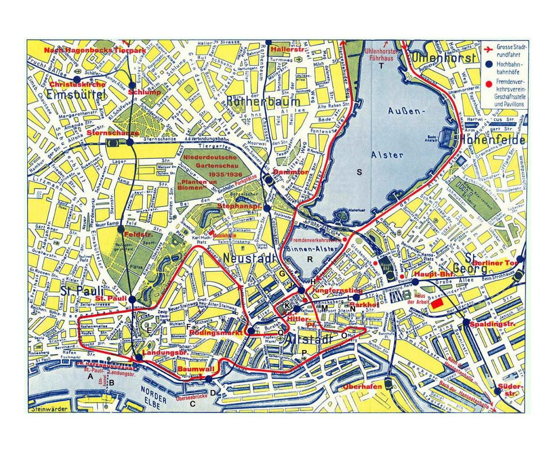 Map Of Germany Hamburg.Maps Of Hamburg Collection Of Maps Of Hamburg City Germany
