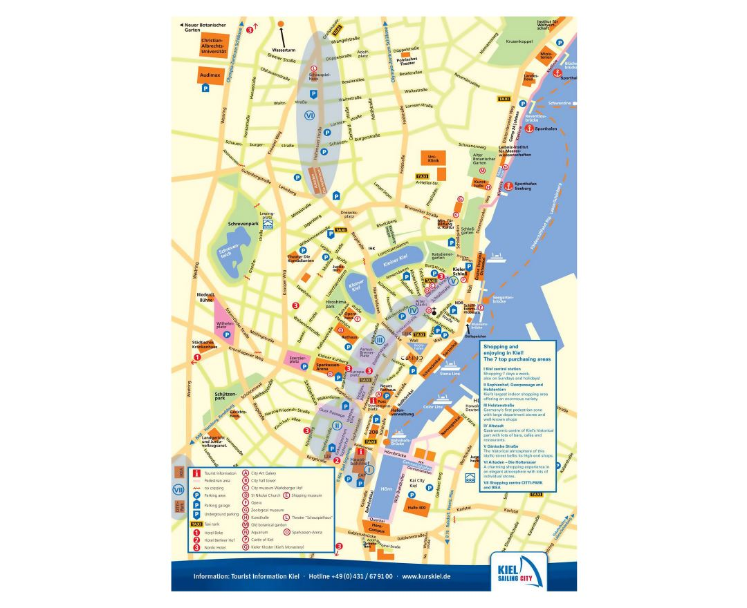 Maps of Kiel | Detailed map of Kiel in English | Tourist map (travel ...