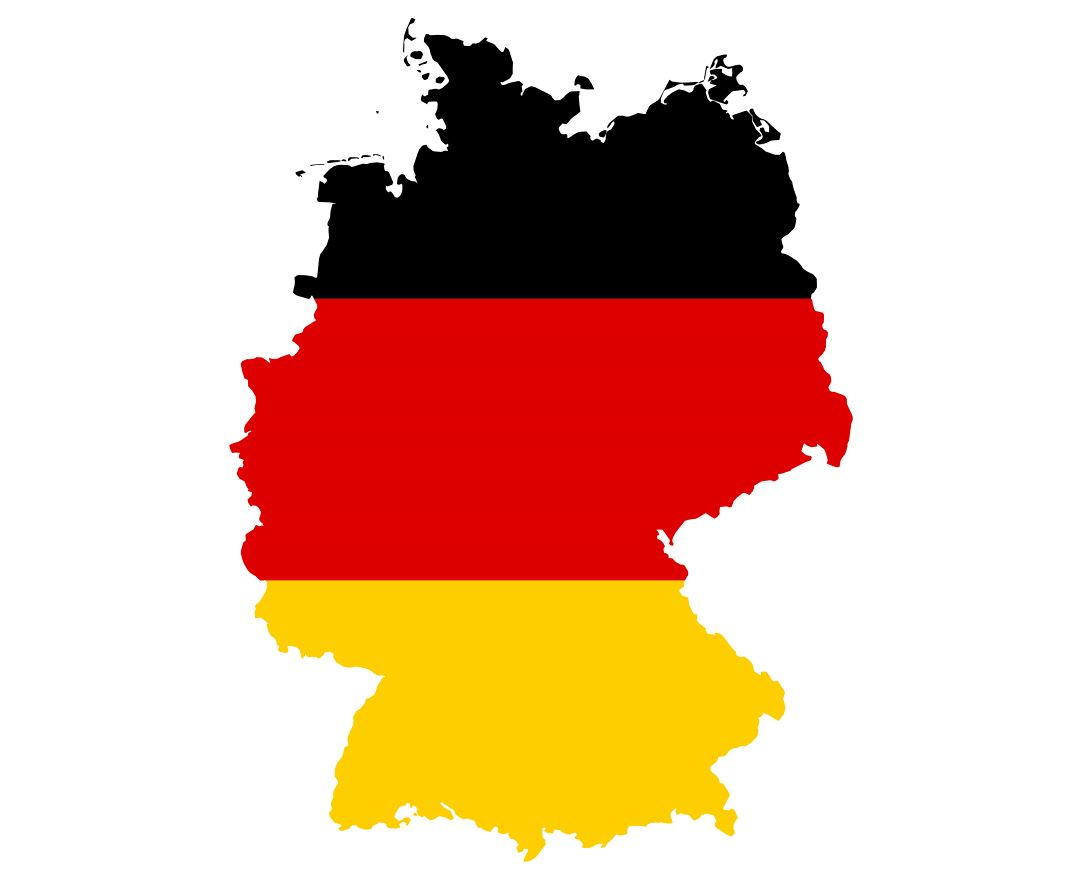 Large flag map of Germany