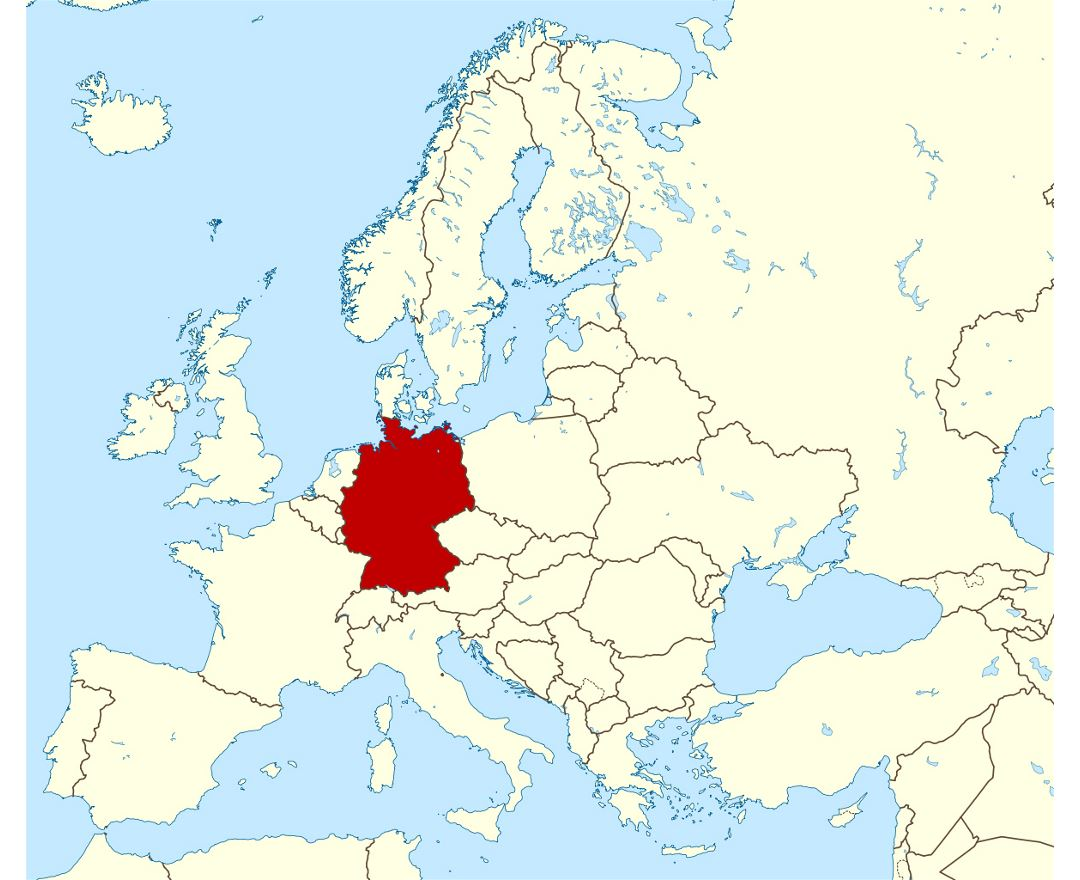 Large location map of Germany