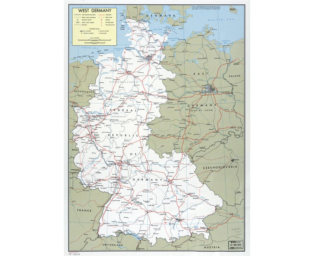 Maps of Germany | Collection of maps of Germany | Europe | Mapsland ...