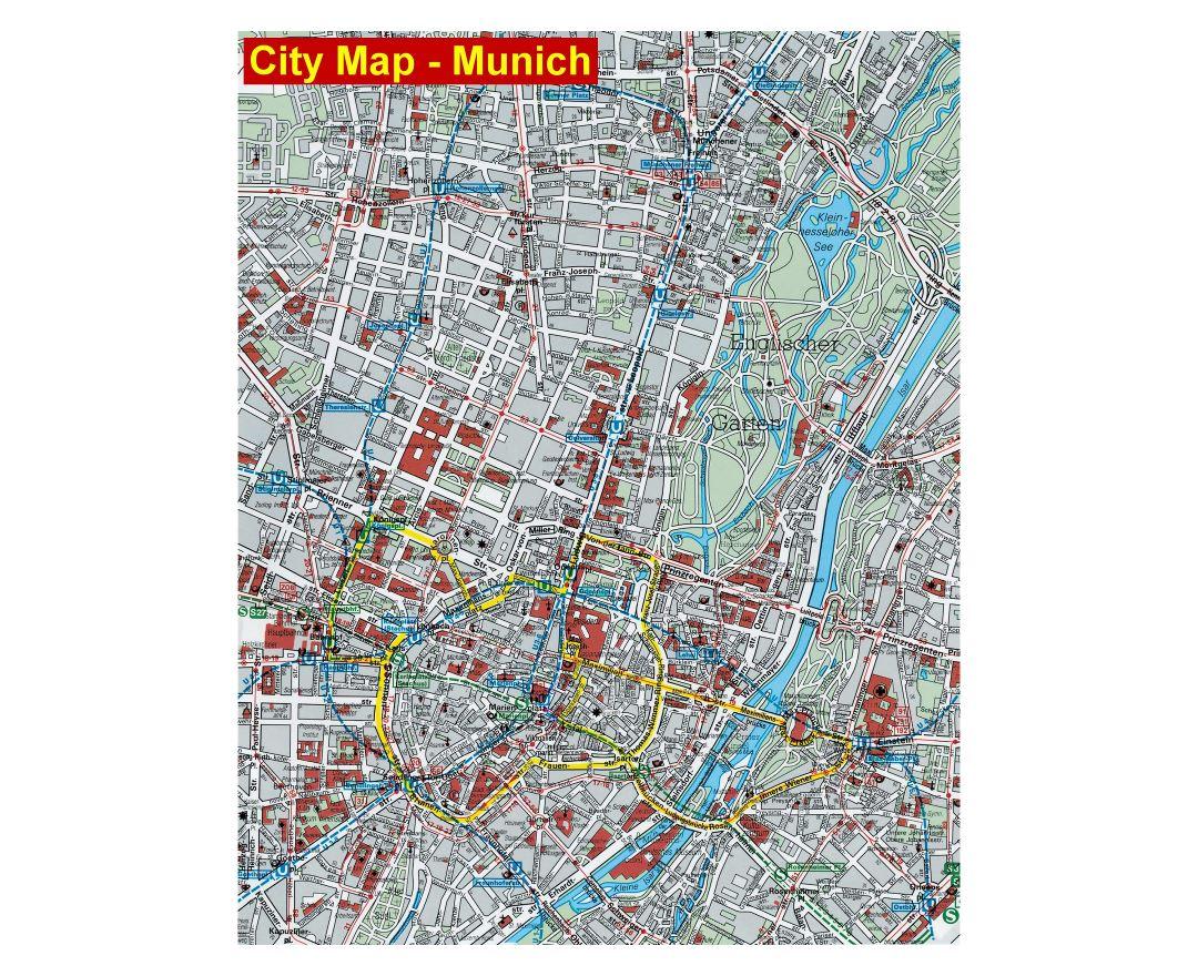 Maps of Munich | Collection of maps of Munich city | Germany ...