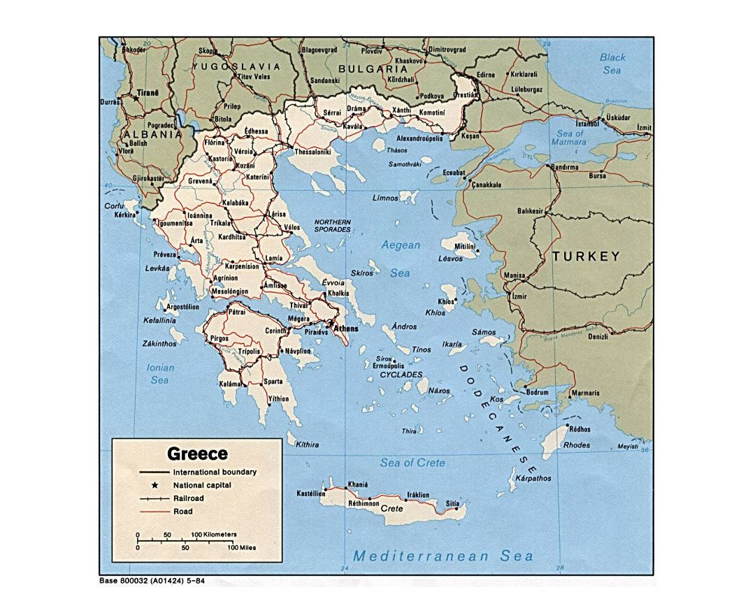 Maps Of Greece Detailed Map Of Greece In English Tourist Map - Political map of greece