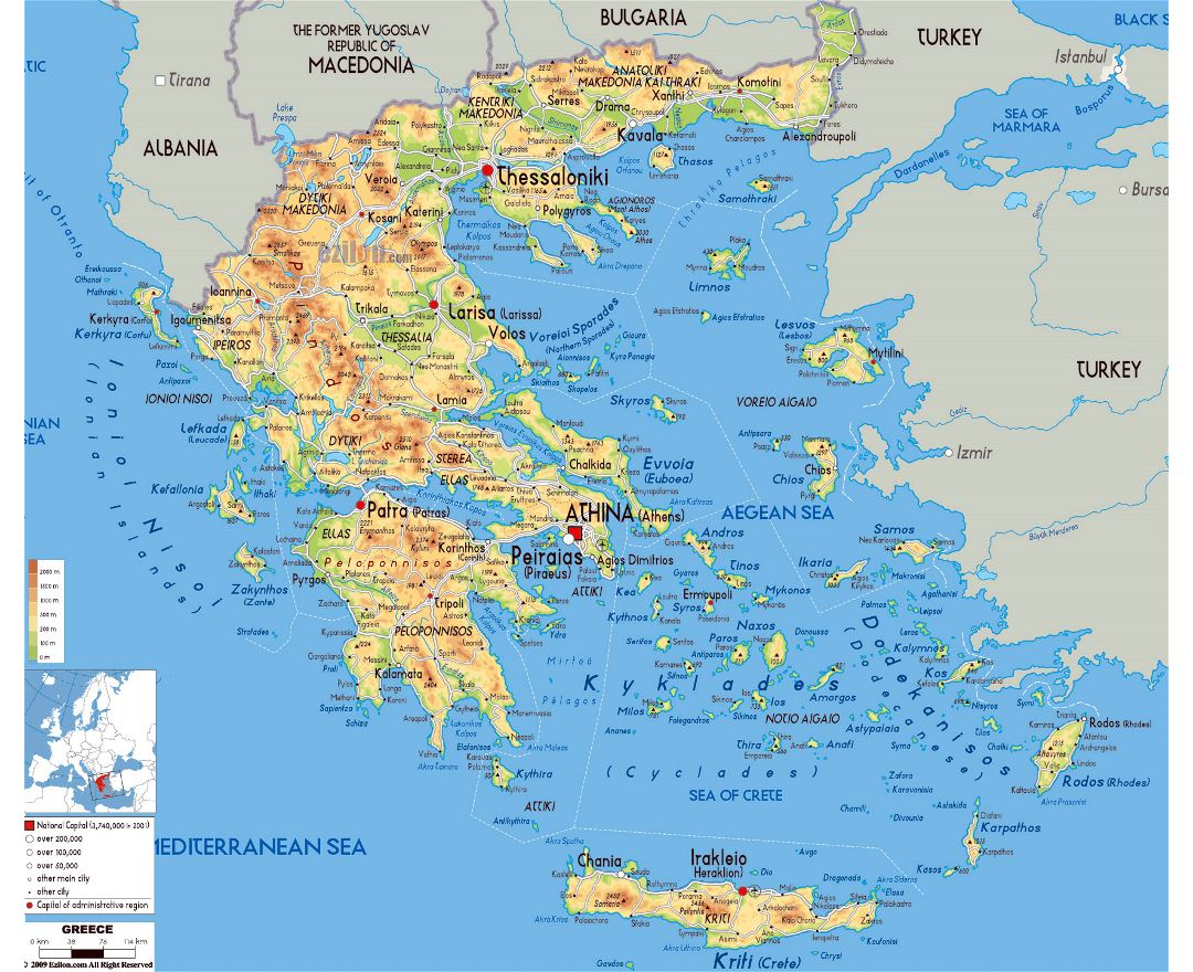 Physical Maps Of Ancient Greece Make A Photo Gallery With Physical ...