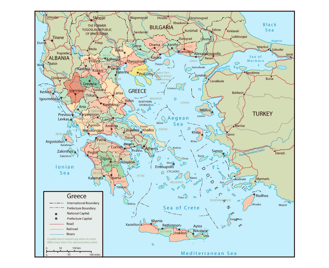 Maps of Greece | Collection of maps of Greece | Europe | Mapsland ...